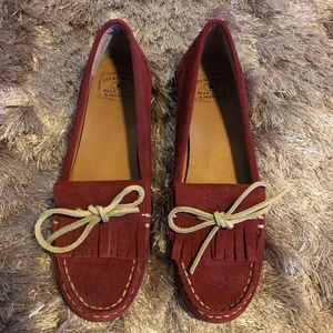 New Lucky Brand Maroon Suede Loafers